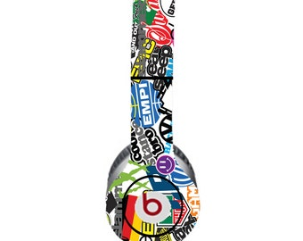 VW Colorful White Background Beats by Dre Solo Skin