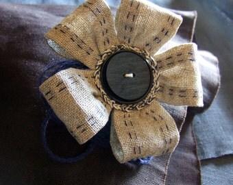 Linen brooch