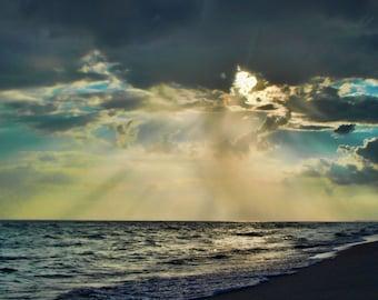 Beach Photography,Sunset photo, Landscape, Ocean photography, Coastal Wall Art, Nautical