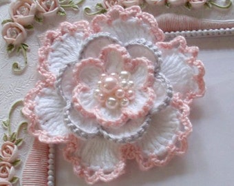 Crochet flower applique CH-053-01
