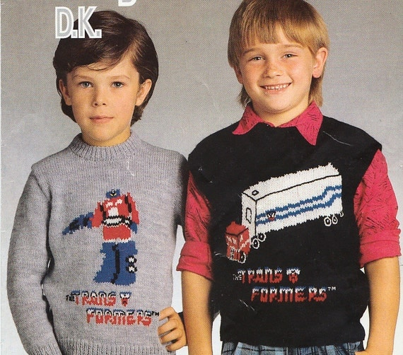 Knitting Patterns For Childrens Characters : transformers vintage knitting patterns for childrens ...