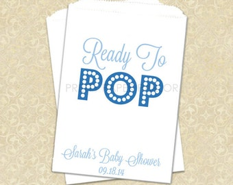 baby shower favor bag popcorn favor bags ready to pop