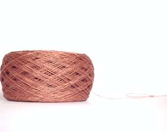 Wild Rose Linen Yarn, High Quality, #055 Linen Yarn, Linen Yarn For Crochet, Knitting, 100 g/ 3.5 oz