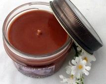 Chocolate Fudge Soy Candle, scented soy candles, Jelly Jar, 4 oz candle, contanier candles, decorative candles, chocolate candles