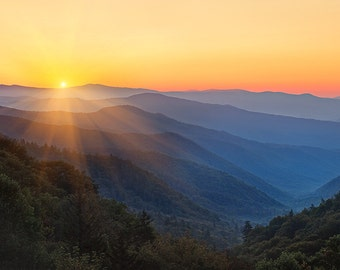 """Morning Majesty - Metal Print - Great Smoky Mountains Pictures - Fine Art Photography - William Britten """"Morning Majesty"""""""