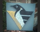 Pittsburgh Penguins String Art 16inX16in
