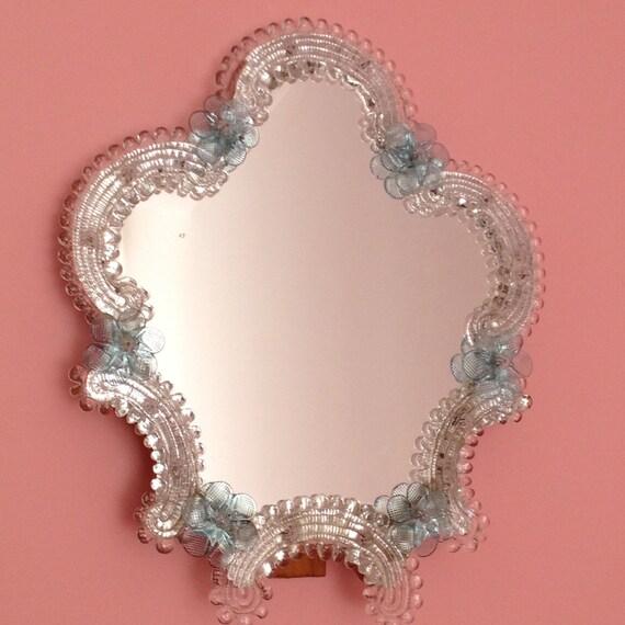 alte venezianische murano glas schminktisch spiegel 1950 39. Black Bedroom Furniture Sets. Home Design Ideas