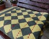 Vintage Kantha Quilt,Handmade Kantha Throw,Cotton Bedspread,Antique Kantha Work Quilt,Traditional Art Kantha Work,Home Decor,Bedding,India