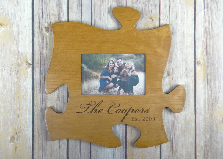 personalized picture frame puzzle piece by yournamehereengraver. Black Bedroom Furniture Sets. Home Design Ideas