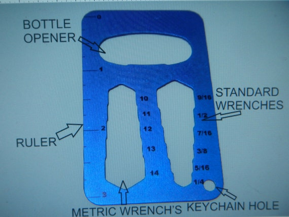 Titanium Pocket Tool / Bottle Opener
