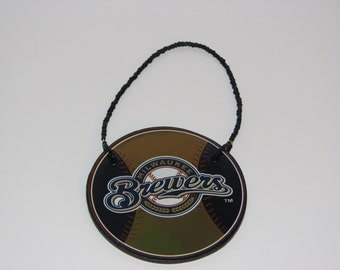 Milwaukee Brewers Door Knob Hanger - Boys Room Decor - Christmas Ornament