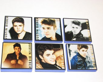 Justin Beiber Note Pads Set of 6 - Excellent Party Favors