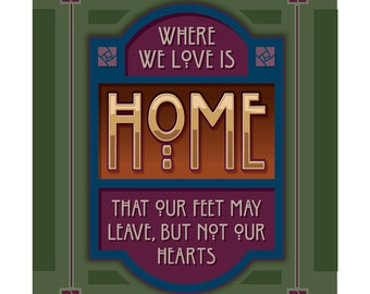 Arts and Crafts Mission Style Unframed Print. Home, House, subject. Great for Arts and Crafts, Mission style and Craftsman homes.