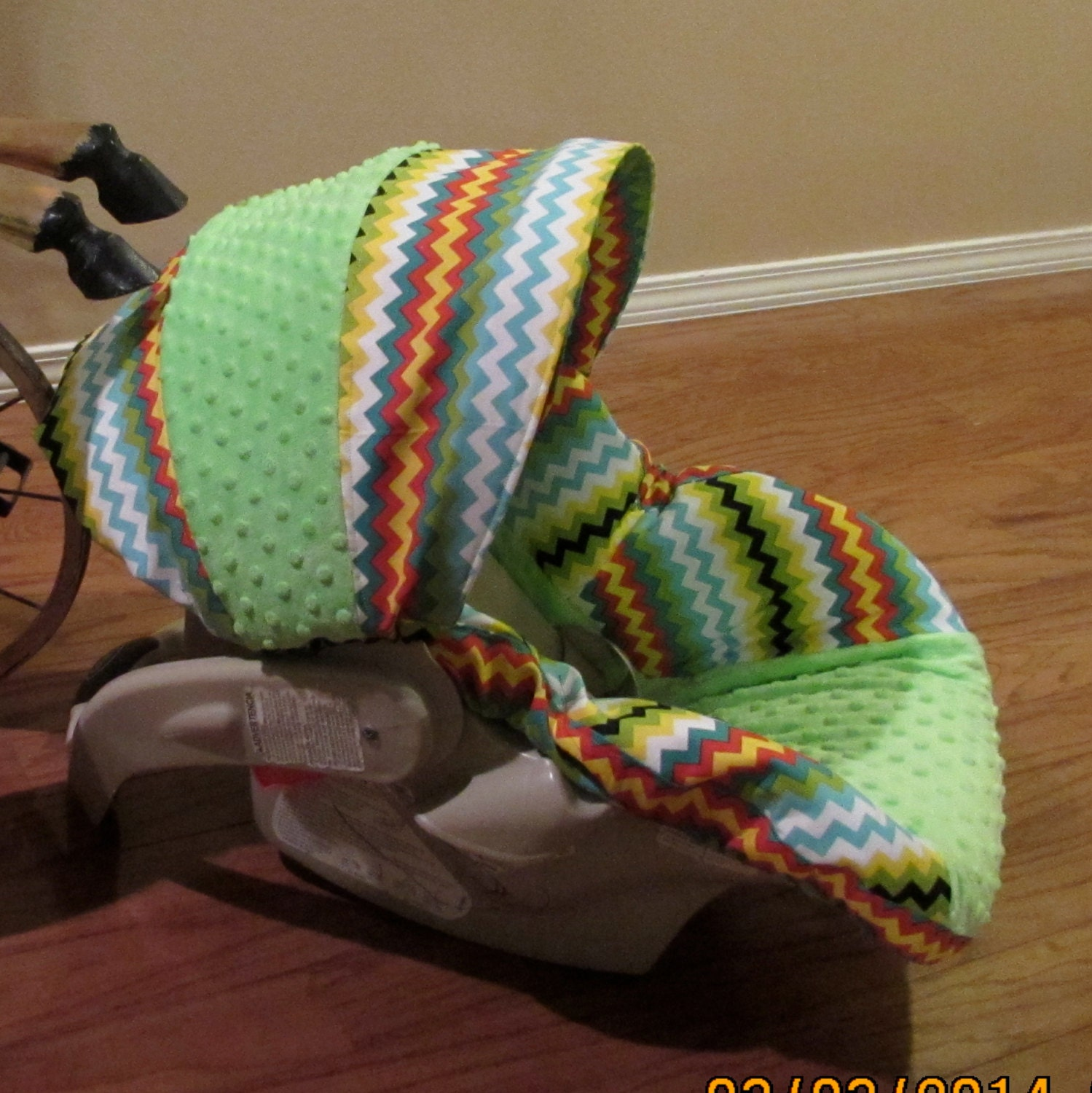 Boutique Infant Car Seat Cover Matching Diaper By