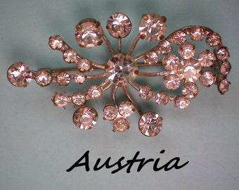 Austrian Crystal Floral Brooch - 2337