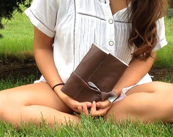 Faux Leather Bound Blank Journal