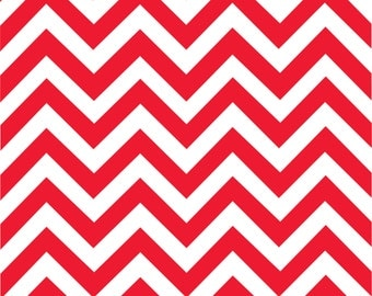 Red chevron craft  vinyl sheet - HTV or Adhesive Vinyl -  red and white large zig zag pattern   HTV120