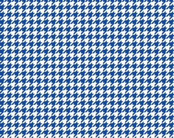 Blue houndstooth craft  vinyl sheet - HTV or Adhesive Vinyl -  blue and white pattern vinyl  HTV404