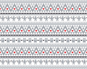 Gray black and red owl tribal pattern craft  vinyl sheet - HTV or Adhesive Vinyl -  Aztec Peruvian pattern HTV310