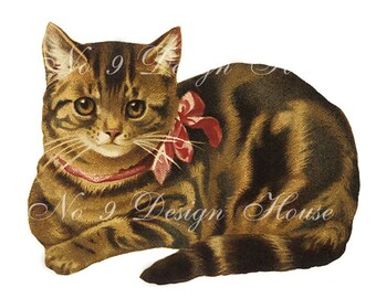 Digital Download, ACEO, Vintage Digital Cat, Digital Kitten, Digital Collage, Scrap Booking, French Digital,Transfer Images, Printable Decal