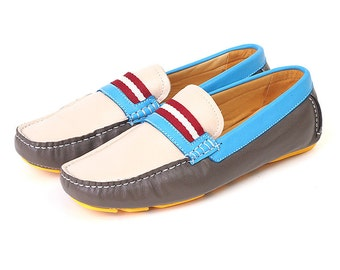 SALE : Loafer, Moccasin shoes,Genuine Leather