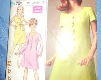 Simplicity pattern, ladies size 12 dress from 1960s.