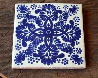 "90 Mexican Talavera Tiles handmade, Hand painted 4 ""X 4"""