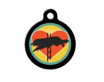 I Heart Agility Pet Engraved Pet ID Tag