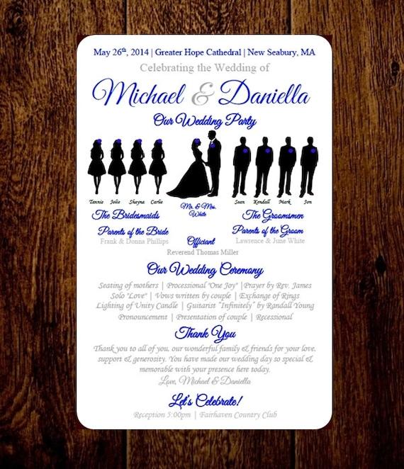 diy wedding program template choose number by pixelromance4ever. Black Bedroom Furniture Sets. Home Design Ideas
