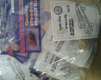 12 Wood Pick-up Truck Kits.. Children