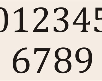 NUMBERS **STENCILS CAMB01- 0-9- Available in 5 Sizes- Create
