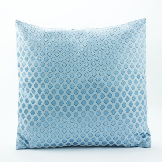 Light Blue Silk Throw Pillow : Items similar to Silk pillow Light blue pillow, Decorative throw pillow cover 16x16 sham, Luxury ...