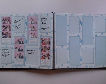 Snowflake Themed Photo Booth Guest Book