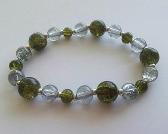 SLYTHERIN house colors stretch bracelet