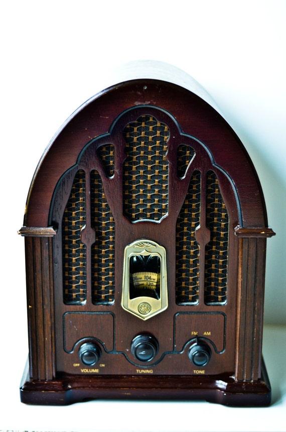 Vintage Ge Wooden Radio By Monikajayvintage On Etsy