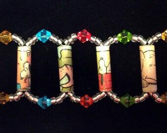 Unique upcycled bracelet