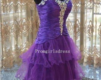 Short Prom Dresses, Homecoming Dress, Purple Prom Dress, Short Prom Dresses, Purple Bridesmaid Dress