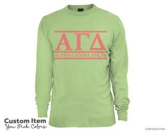 AGD Alpha Gamma Delta Custom Comfort Colors Classic Sorority Sweatshirt