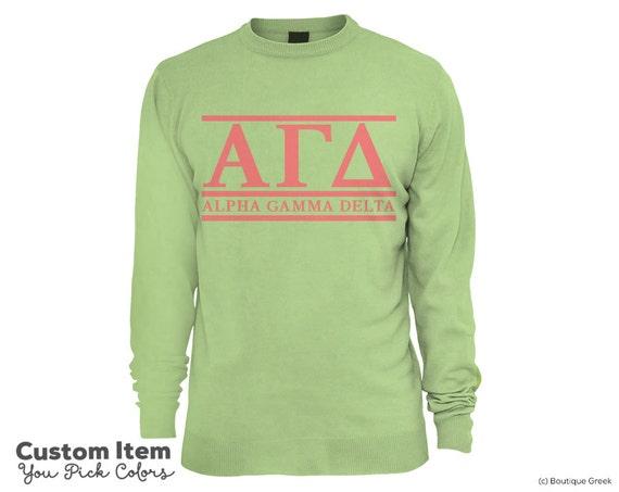 Agd Alpha Gamma Delta Custom Comfort Colors Classic Sorority