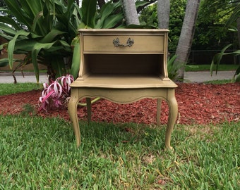 FRENCH PROVINCIAL Nightstand, Antique (circa 1950s) by  J.B Van Sciver Co.