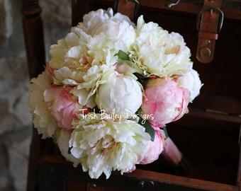 Blush & Cream Peony Wedding Bouquet