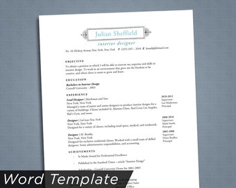 resume template word instant download resume resume template instant resume download