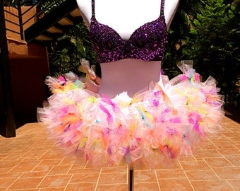 Colorful Tutu, Color Run Tutu, Birthday Tutu, Marathon Tutu, 5K Tutu, Cancer Run Tutu