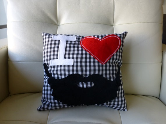 I LOVE BEARDS- Gingham Square