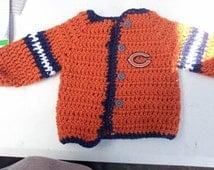 Crochet Chicago Bears Baby Sweater