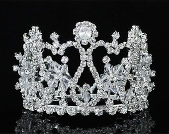 Exquisite Rhinestones Crystal Photo Prop Newborn Baby Tiara Crown (457)