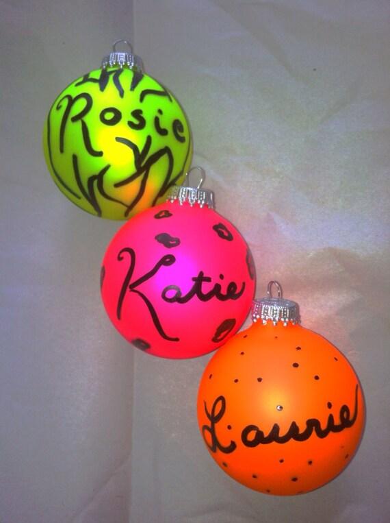 Neon adolescentes adornos personalizados