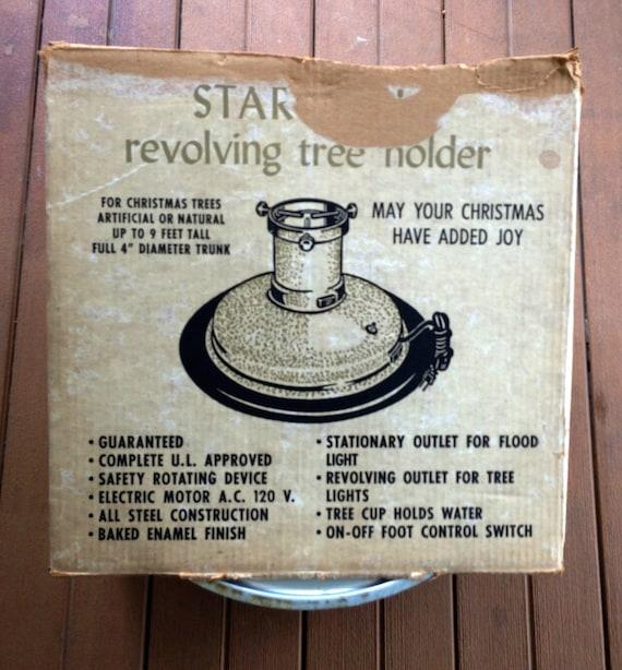 Musical Rotating Christmas Tree Stand: Vintage Revolving Tree Stand Vintage Musical Tree Stand