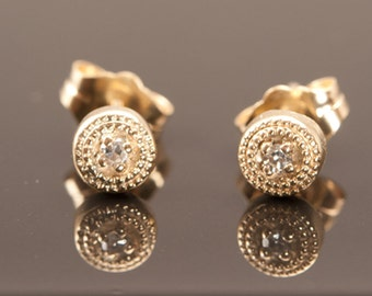 Diamond Gold Earrings