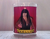 Kelly Rowland Glass Votive Candle // Gay Altar Candle